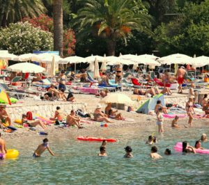 Dubrovnik -pláž Lapad - Chorváťsko