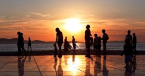 Západ slnka - Zadar Chorvátsko