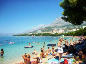 Makarska - Pláž Donja Luka - Chorvátsko