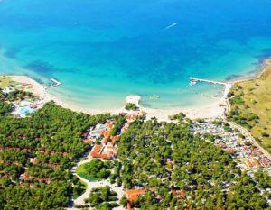 pláž Zaton, oblasť Zadar v Chorvátsku