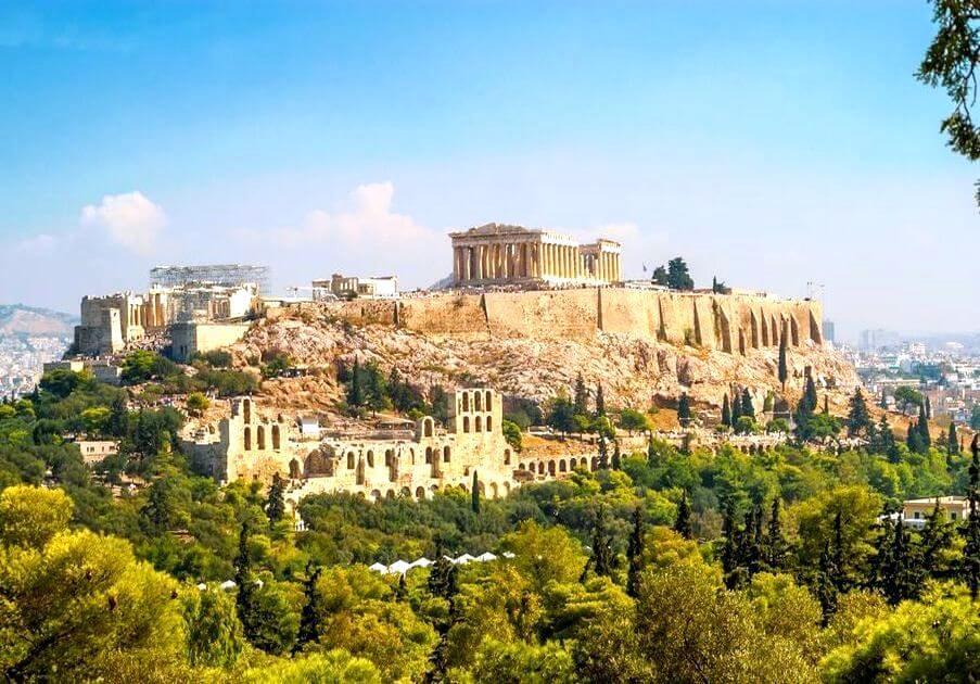 Atény Akropolis kam do grécka