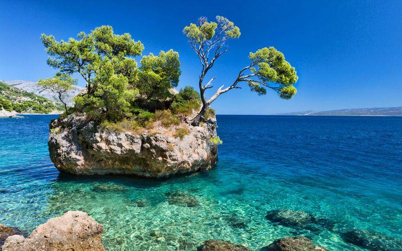 pláž Brela, najkrajšie pláže v Chorvátsku