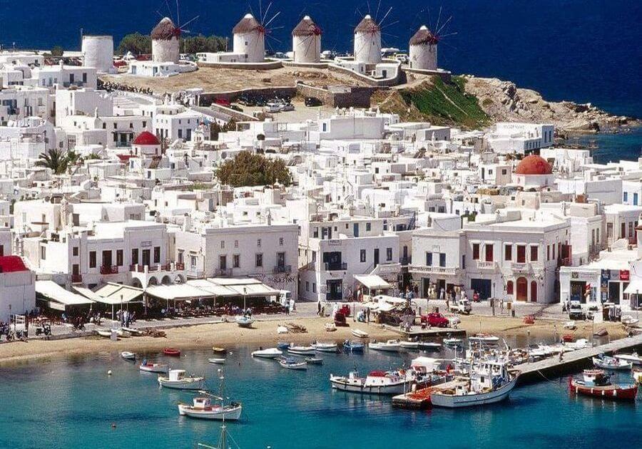 kam do grécka ostrov Mykonos