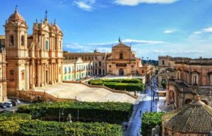 katedrála v Noto, dovolenka Sicília
