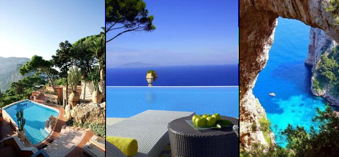 ostrov Capri, dovolenka v Taliansku
