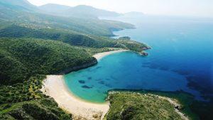Ostrov Peloponéz v Grécku