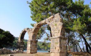 výlet do mestečka Phaselis, dovolenka v Turecku