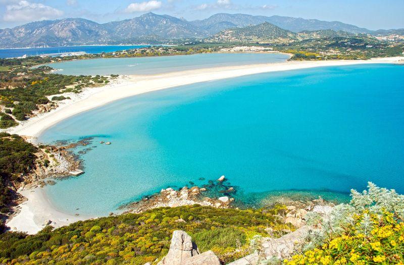 Porto-Giunco, dovolenka Sardínia, pláže na Sardínii