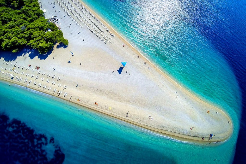 najkrajšie pláže v Európe, Chorvátsko pláž