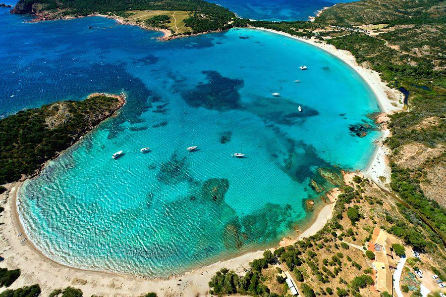 pláž Rondinara, Korzika, najkrajšie pláže Európy