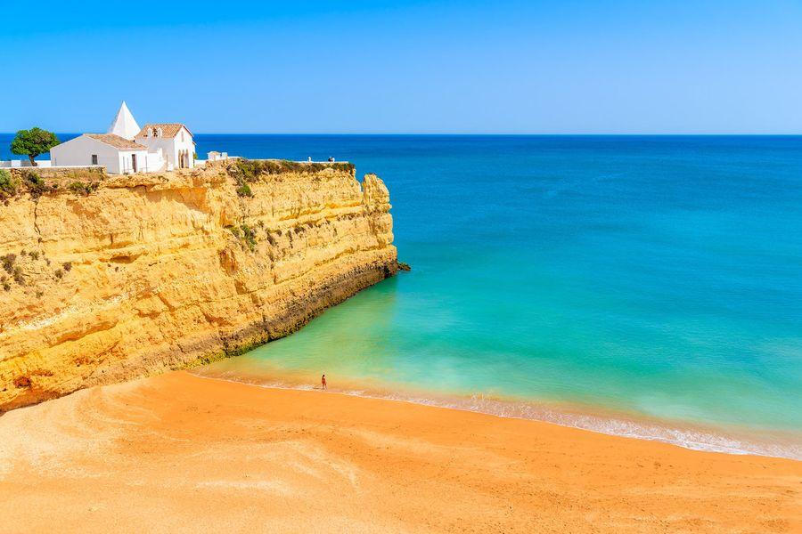 pláž v Algarve,Portugalsko
