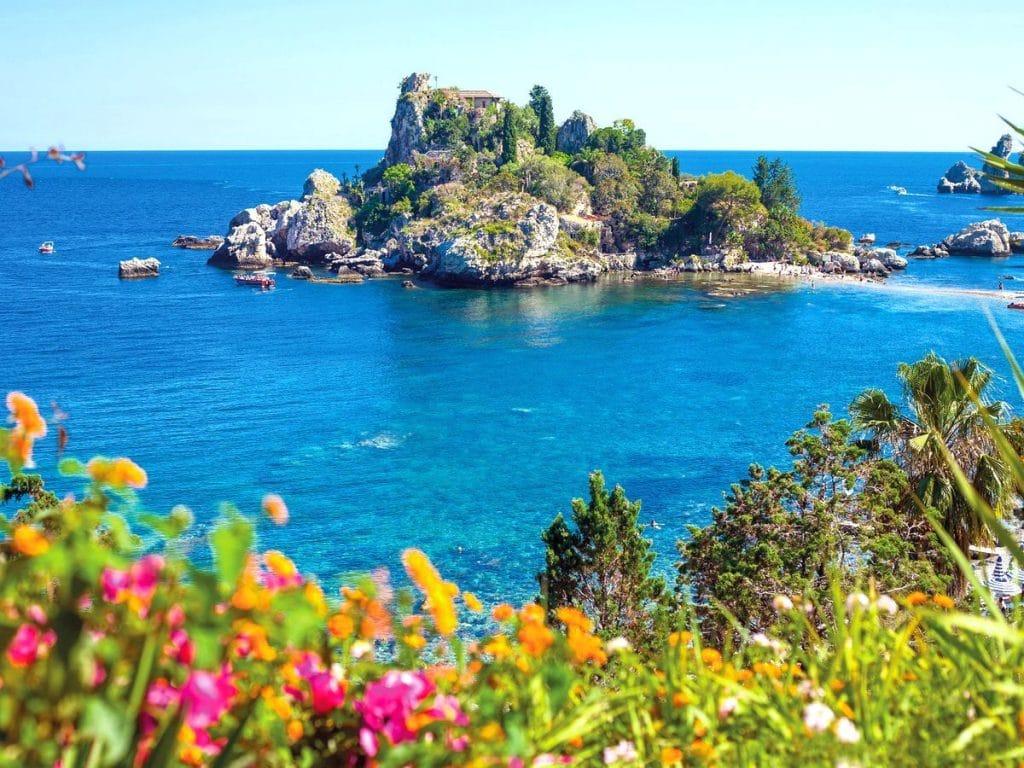 najkrajšie pláže sicílie, isola bella, dovolenka