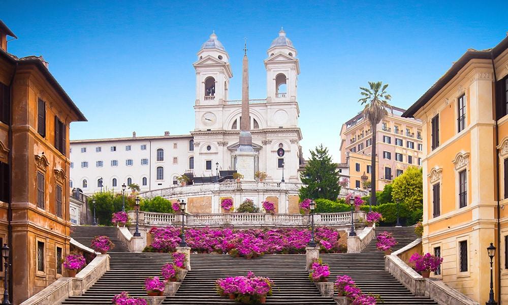 rím pamiatky španielske schody
