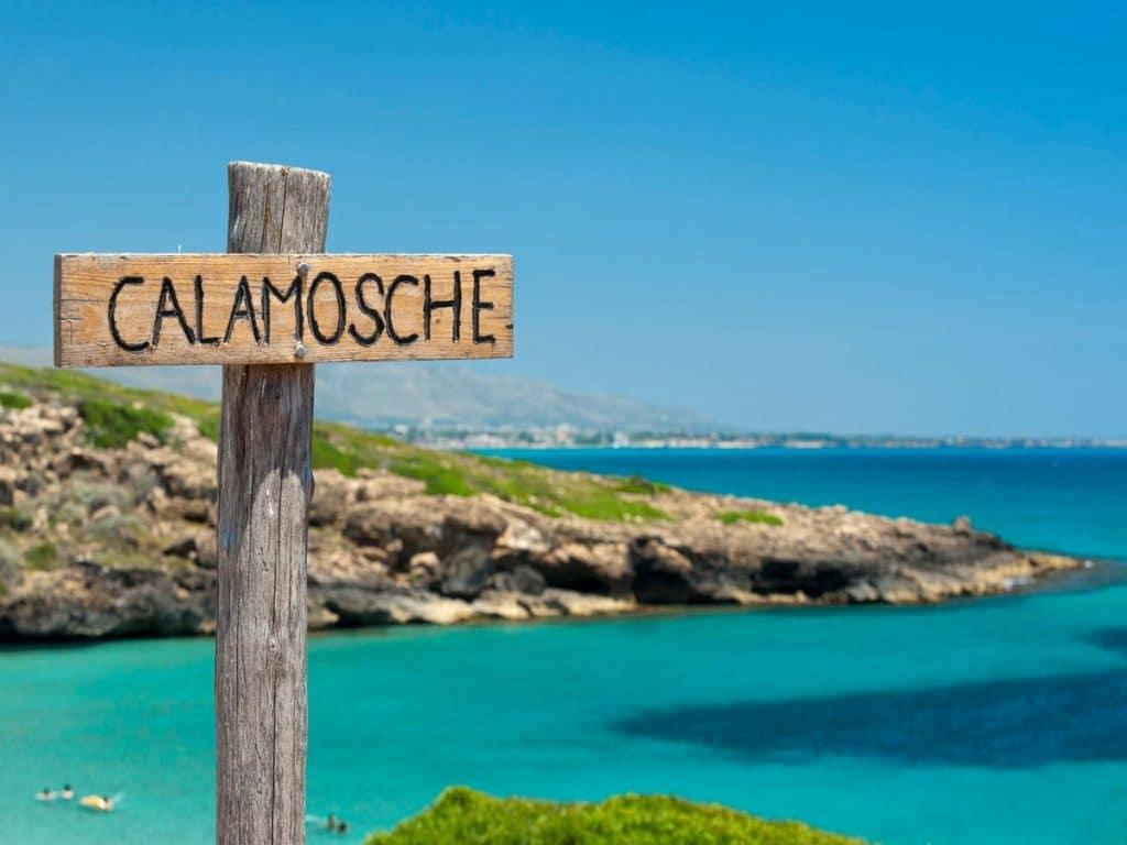 sicília najkrajšie pláže pláž calamosche