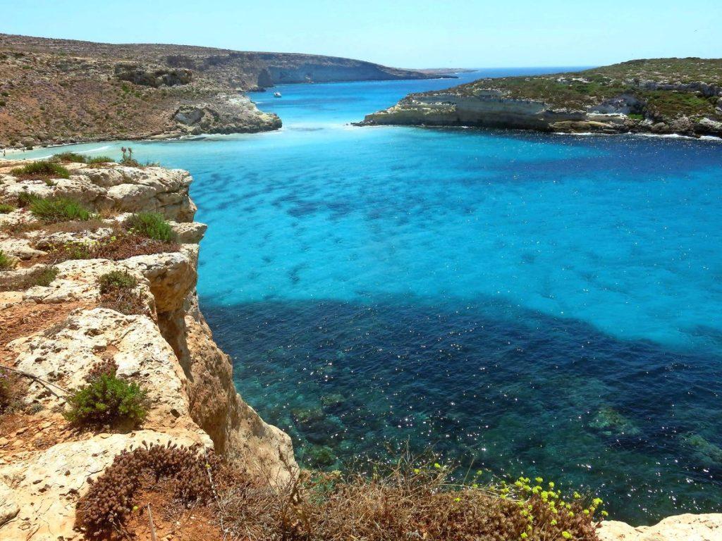 Sicília najkrajšie pláže ostrov Lampedusa