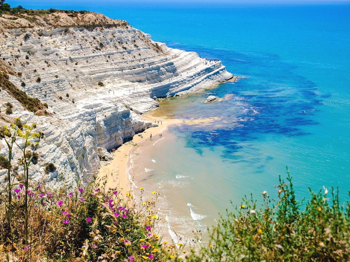 Sicília najkrajšie pláže Scala dei Turchi