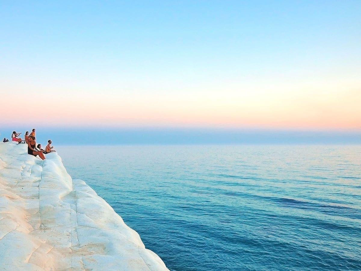 Sicília najkrajšie pláže Scala dei Turchi Realmonte