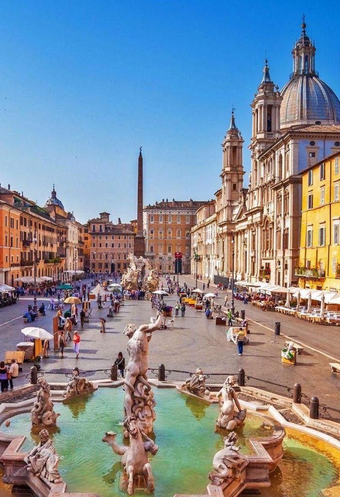 zajazd do Rima, piazza navona